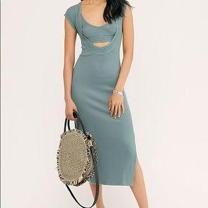 NWT FP ribbed knit slinky dress set